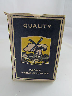 VINTAGE BOX OF Honest Value Holland Mfg. Co. Baltimore MD BILLPOSTER TACKS 9/16