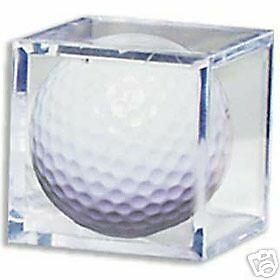 (2) Golf Ball Cube Holder Crystal Clear Display Case