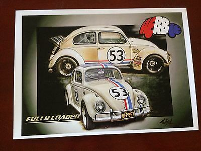 Herbie Fully Loaded  Signed Print