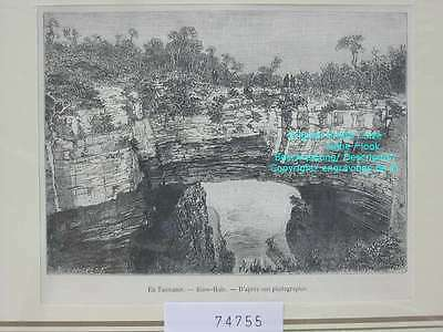 74755-Australien-Australia-Tasmanien-Tasmania-Blow-Hole-TH-Wood engraving