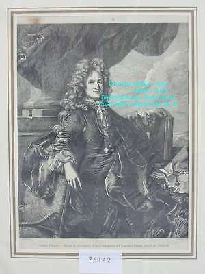 76142-Porträts-Portraits-Charles d'Hozier-T Holzstich-Wood engraving
