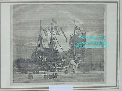 76533-Asien-Asia-China-Junk-Jonque chinoise-T Holzstich-Wood engraving