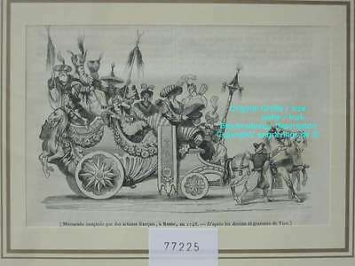 77225-Italien-Italy-Italia-Rom-Roma-Rome-Mascarade-TH-Wood engraving