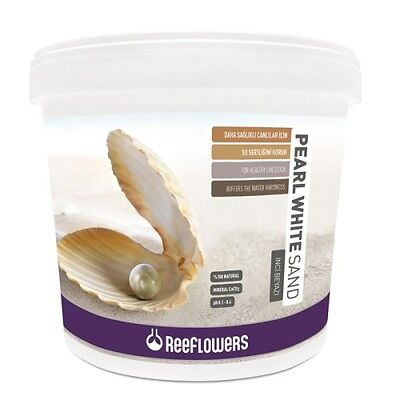 Reeflowers Pearl White Sand 7kg 25kg 0.5mm to 1.5mm Marine Reef Cichlid PH Fish