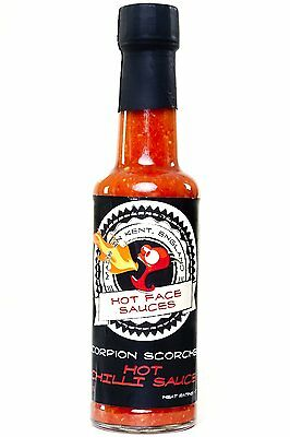Hot Face Sauces Trinidad Moruga Scorpion Scorcher 150ml Very Hot Chilli Sauce