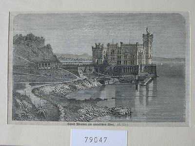 79047-Italien-Italy-Italia-Triest-Trieste-Schloss Miramar-TH-Wood engraving
