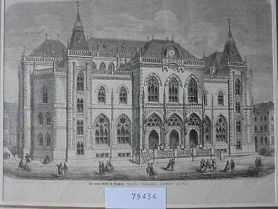 79434-Bremen-Börse-Exchange-T Holzstich-Wood engraving