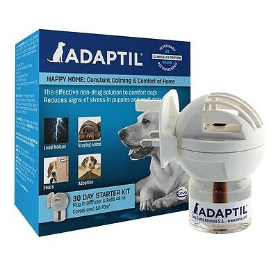 Adaptil Dog Appeasing Stress Reducing Pheromone Diffuser & 48ml Refill Pack