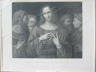 84429-Christ Disputing with the Doctors-Da Vinci-Stahlstich-steel engraving-1832