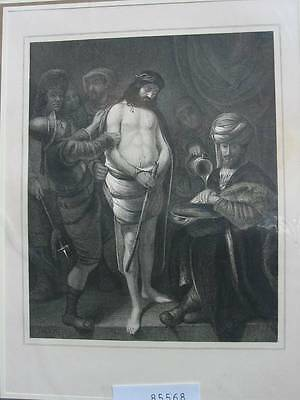 85568-Bibel-Bible-Jesus-Christ-Ecce Homo-Stahlstich-steel engraving