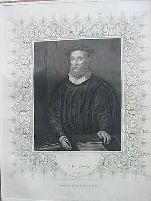 85709-Porträts-Portraits-John Knox-Stahlstich-Steel engraving