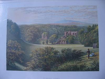 86342-Great Britain-Großbritanien-Furness Abbey-Lithographie-Lithography