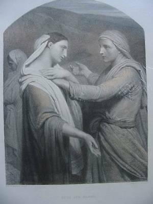 86301-Bibel-Bible-Ruth and Naomi-Stahlstich-Steel engraving