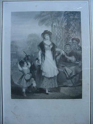 86397-Findens Tableaux-The Return from the Fair-Stahlstich-Steel engraving