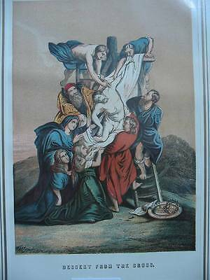 86489-Bibel-Bible-Jesus-Christ-Descent from the Cross-Lithographie
