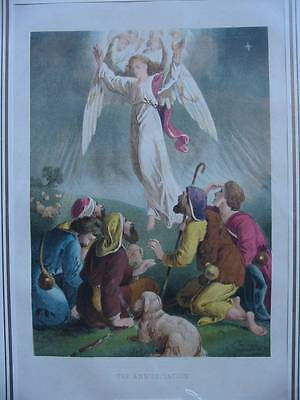 86516-Bibel-Bible-The Annunciation-Engel-Angel-Lithographie-Lithography