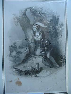 86379-Findens Tableaux-The Romance of the Page-Ritter-Stahlstich-Steel engraving