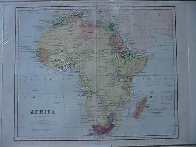 86636-Afrika-Africa-Landkarte-Map-Lithographie-Lithography