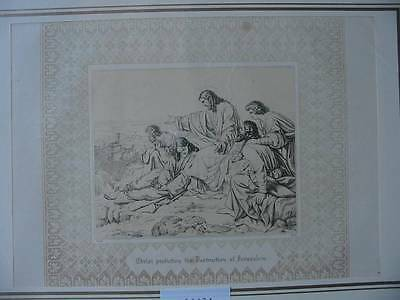 86634-Bibel-Bible-Jesus-Christ-Jerusalem-mit Ornament-Stahlstich-Steel engraving