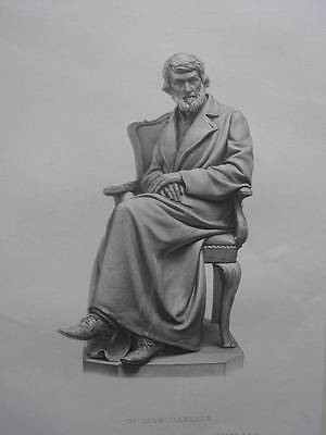 87017-Porträts-Portraits-Thomas Carlyle-Skulptur-Stahlstich-Steel engraving