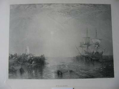 86833-William Turner-Whalers-Walfang-Stahlstich-steel engraving
