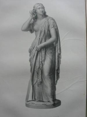 87034-Skulpturen-Sculpture-The Lady on the Lake-Stahlstich-Steel engraving