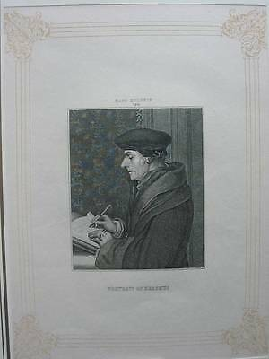 87175-Portrait of Erasmus-nach Holbein-Kupferstich-copper engraving