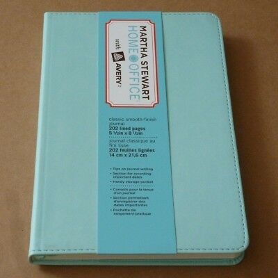 """MARTHA STEWART® 14852 Classic Smooth Journal 5.5"""" x 8.5"""" 202 Lined Pages Blue"""