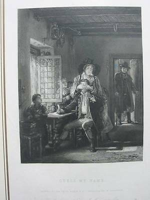 87420-Sir David Wilkie-Guess My Name-Stahlstich-engraving