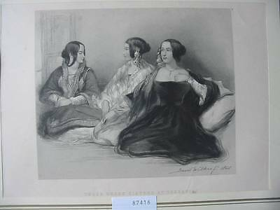 87416-Sir David Wilkie-Three Greek Sisters at Therapia-Stahlstich-engraving