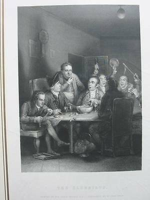 87419-Sir David Wilkie-The Clubbists-Stahlstich-engraving