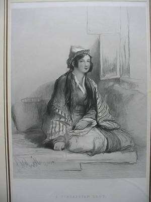 87451-Sir David Wilkie-A Circassian Lady-Caucasus-Stahlstich-engraving