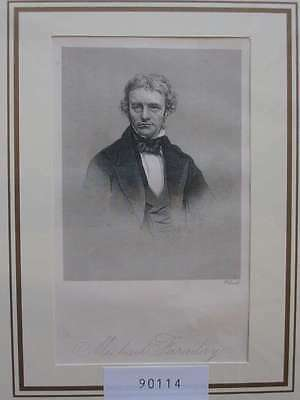 90114-Porträts-Portraits-Michael Faraday-Stahlstich-Steel engraving
