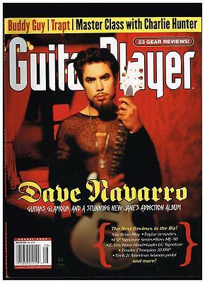 Dave Navarro On Cover Of Guitar Player Magazine August  2003 Janes Addiction