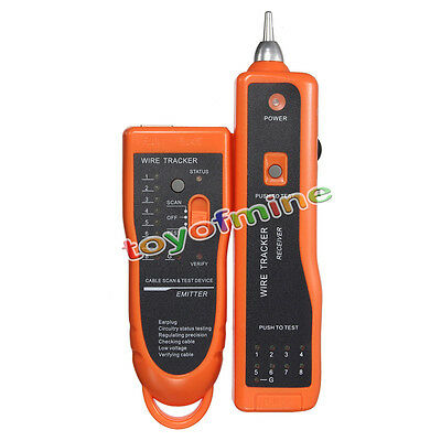 Telephone Phone RJ45 RJ11 Wire Tracker Tracer Ethernet LAN Network Cable Tester