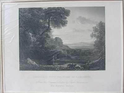 84398-Landscape with the Story of Narcissus-Stahlstich-steel engraving-1832