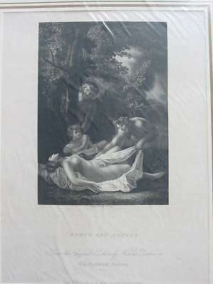 84373-Nymph and Satyrs-Poussin-Stahlstich-steel engraving-1832