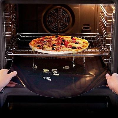 50x40cm Black Non-stick BBQ Oven Trays Liner Plate Cooking Baking Sheet Mat Pat