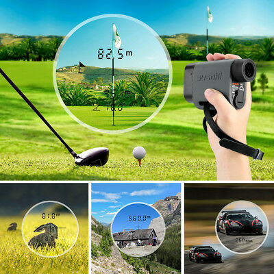 Golf Laser Range Finder LCD 600M Hunting Meter Speed Measure Waterproof Handheld