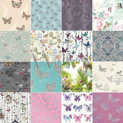 Girls Bedroom Butterfly Wallpaper In Pink, White, Teal + More! New Free P+P