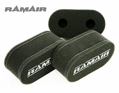 3 x RAMAIR High Flow Performance Carb Sock Air Filters Weber DCOE Dellorto DHLA
