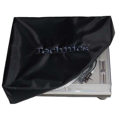 DMC Turntable Dust Cover Technics Deck Logo Black & Embroidered Black