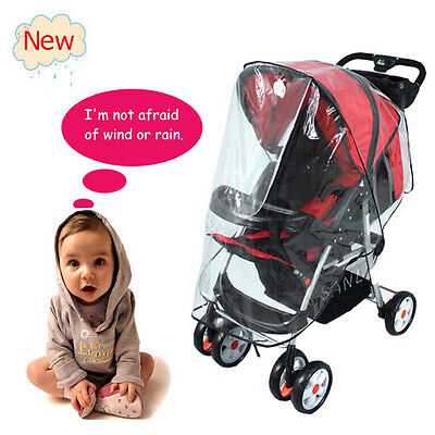 Quality Universal Buggy Pushchair Stroller Pram Transparent Rain Cover Big Size