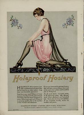 1924 Coles Phillips Fashion Pg Ad / Hosiery Ad By Artists: Coles Phillips