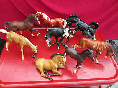 Vintage Mixed 8 Piece Lot of Breyer Horses and Foals All Original Collectible