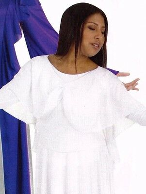 NWT Body Wrappers Praise Top Dk Purple Angel Drape Liturgical Girls Sizes # 0503