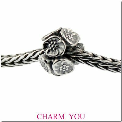 Authentic Trollbeads Sterling Silver 11449 Cherry Blossoms Bead