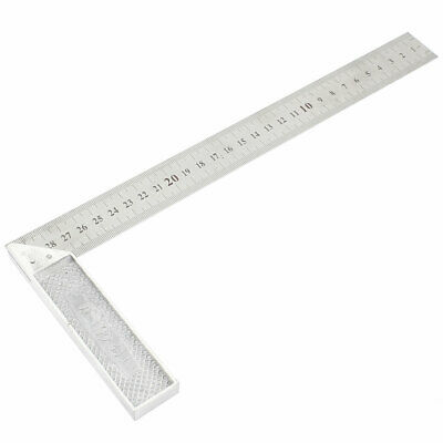 Metal 90 Degree Angle Metric Double Side 30cm Scale Marks Metre Ruler