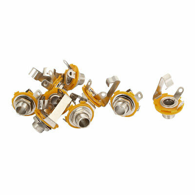 Guitar Metal Electric Mono Input or Output Jack Socket 6.35mm 1/4inches 9 Pcs