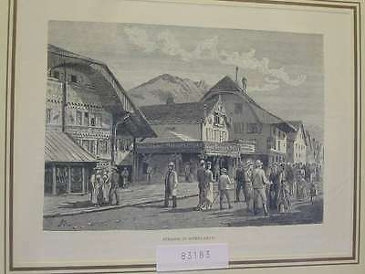 83183-Schweiz-Swiss-Switzerland-Interlaken-TH-Wood engraving
